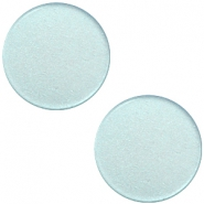 12mm flat Super Polaris cabochon Haze blue
