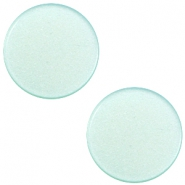 7mm flat Super Polaris cabochon Light aqua green