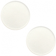 12mm flat Super Polaris cabochon Antique white