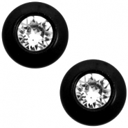 Super Polaris 12mm classic cabochon SS29 Swarovski Nero black
