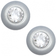 Super Polaris 12mm classic cabochon SS29 Swarovski Ice grey