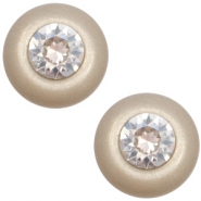 Super Polaris 12mm classic cabochon SS29 Swarovski Light taupe