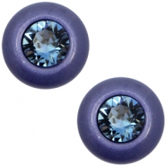 Super Polaris 12mm classic cabochon SS29 Swarovski Midnight blue
