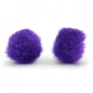 Pompom charm 8mm Purple
