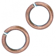 DQ findings 6,5mm jumpring Copper blue patina (nickel free)