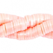 Pearl coated 6mm katsuki beads Light rose peach