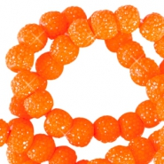 8 mm sparkling beads Bright orange