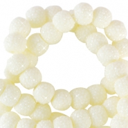 6 mm sparkling beads Pastel yellow