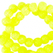 8 mm sparkling beads Neon yellow