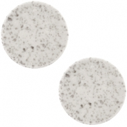 Lava Cabochon flat Polaris Elements 12mm  Light grey