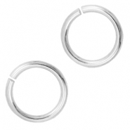 DQ metal findings jump ring 9mm Antique silver (nickel free)
