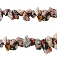 Chips stone beads Multicolor brown red