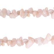 Chips stone beads Beige peach