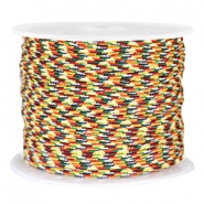 Trendy round surfcord 2mm Red white yellow