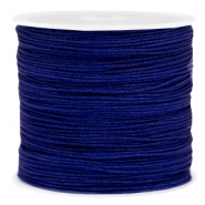 Macramé bead cord 0.8mm Navy blue