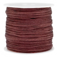 Macramé bead cord 0.8mm Brown