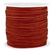 Macramé bead cord 0.8mm Pomegranate brown