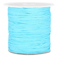Macramé bead cord 1.0mm Light blue