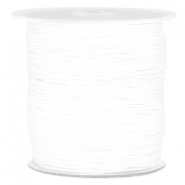 Macramé bead cord 1.0mm White