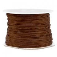 Macramé bead cord 0.5mm Dark brown