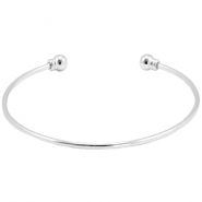 Connector DQ metal bracelet with scewable end terminal Silver (nickel free)