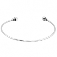 Connector DQ metal bracelet with scewable end terminal Antique silver (nickel free)