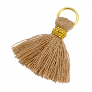 Tassels ibiza style 1.8cm Gold-rust brown