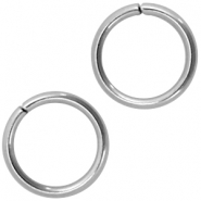 Stainless steel findings jump ring 8mm Silver