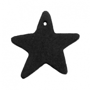DQ leather charms star Vintage black