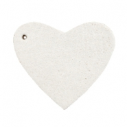 DQ leather charms heart Off white