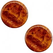 Polaris Elements stardust flat cabochon 7 mm Topaz brown