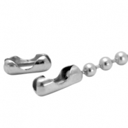 Stainless steel clasp for ball chain 2mm Silver