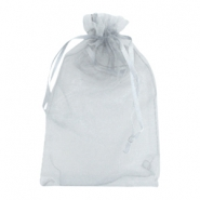 Jewellery organza bags 7x9cm Light grey