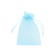 Jewellery organza bags 9x12cm Light blue