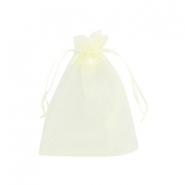 Jewellery organza bags 9x12cm Light yellow