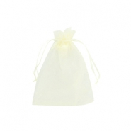 Jewellery organza bags 7x9cm Light yellow