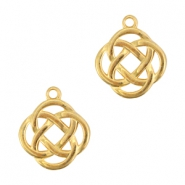 Charms celtic symbol 2 infinity DQ metal Gold (nickel free)