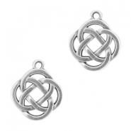 Charms celtic symbol 2 infinity DQ metal Antique silver (nickel free)
