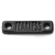 Leather DQ connector FEARLESS Nero black