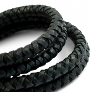 Leather DQ round 6 mm Vintage dark green