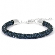 Crystal diamond bracelets 7mm Monatana blue
