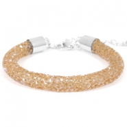 Crystal diamond bracelets 8mm Smoked topaz