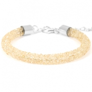 Crystal diamond bracelets 7mm Bisque beige