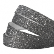Tape 5 mm crystal glitter Black