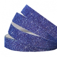 Tape 10 mm crystal glitter Indigo blue