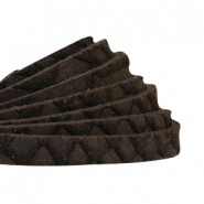 Reptile flat 5 mm DQ leather Black brown