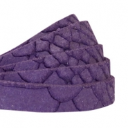 Reptile flat 10 mm DQ leather Purple
