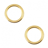 DQ metal charms circle 12mm Gold (nickel free)