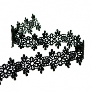 Ribbon with lace 20 mm Black