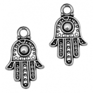Basic Quality metal charms Hamsa hand 20x12mm Antique Silver